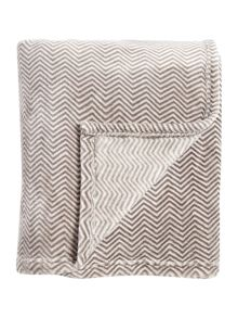 Linea Patterned supersoft fleece throw