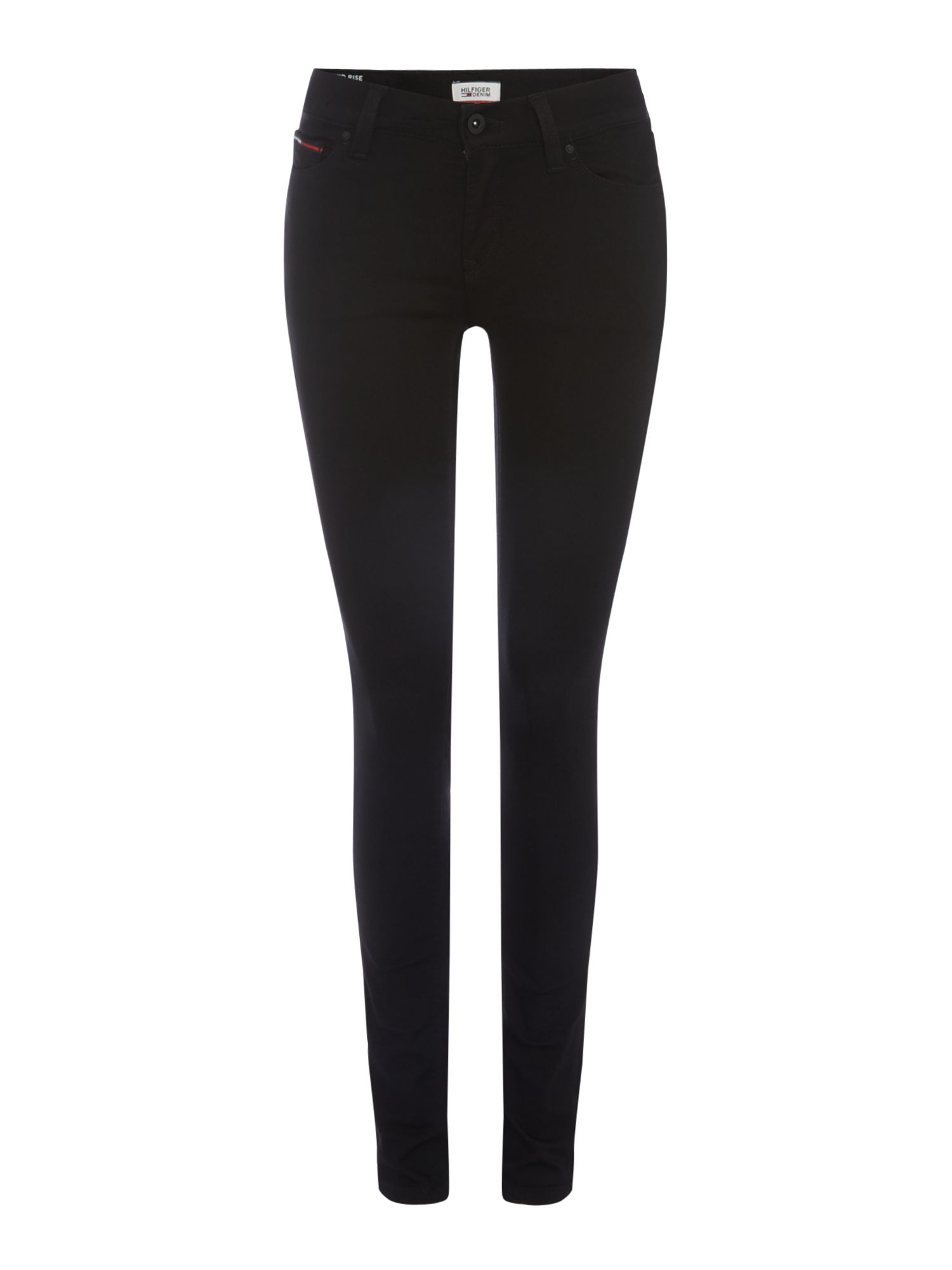 Mid Rise Skinny Fit Nora Jeans, Black