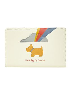 Little ray of sunshine white ziparound purse