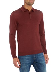 Hugo Boss Banet B long sleeve merino knitted polo