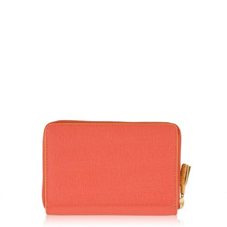 Radley Whitfield orange medium ziparound purse