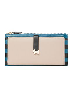 Hamilton stripe blue large ziparound purse