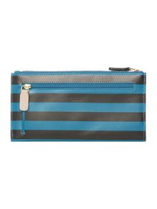 Radley Hamilton stripe blue large ziparound purse