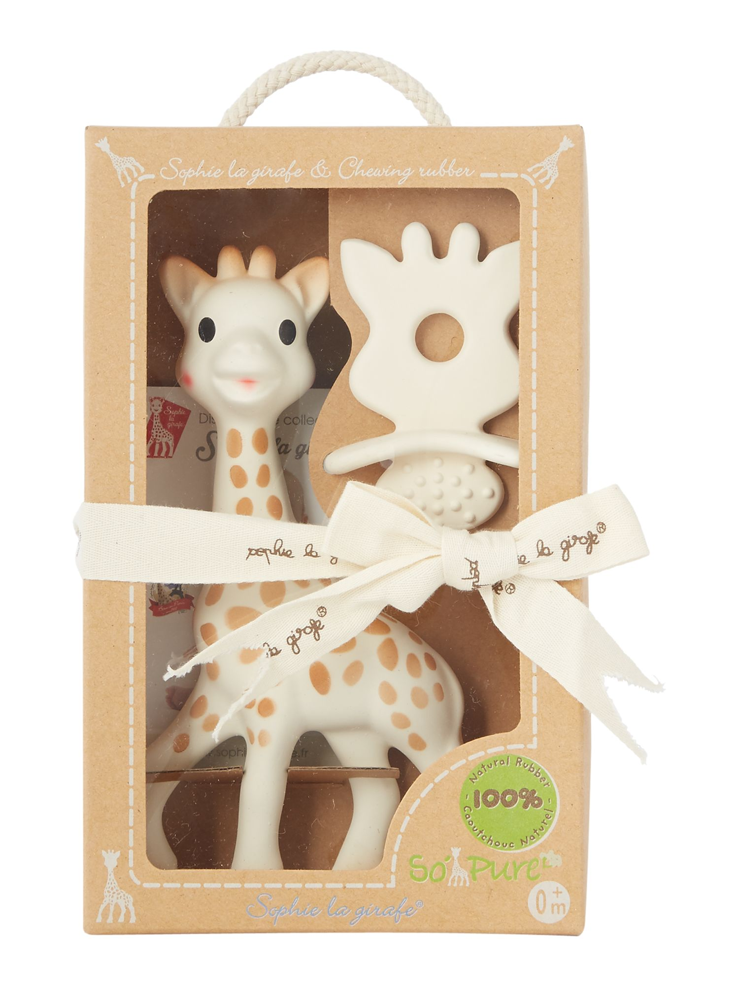 Image of Sophie The Giraffe Baby Natural Teether Two Piece Set