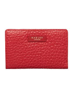 Abbey red medium ziparound purse