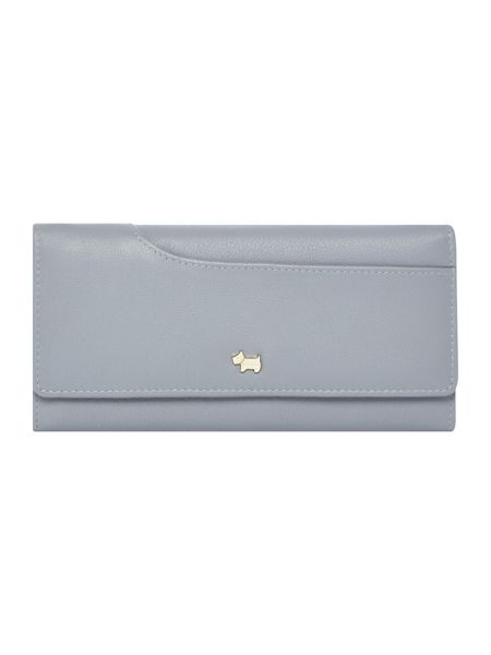 Radley Pocketbag blue large slim flapover purse