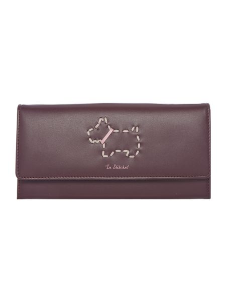Radley In stitches brown large flapover purse
