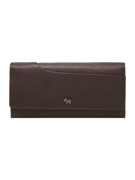 Radley Pocketbag brown large flapover purse