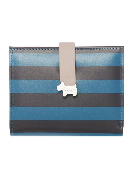 Radley Hamilton stripe blue medium purse