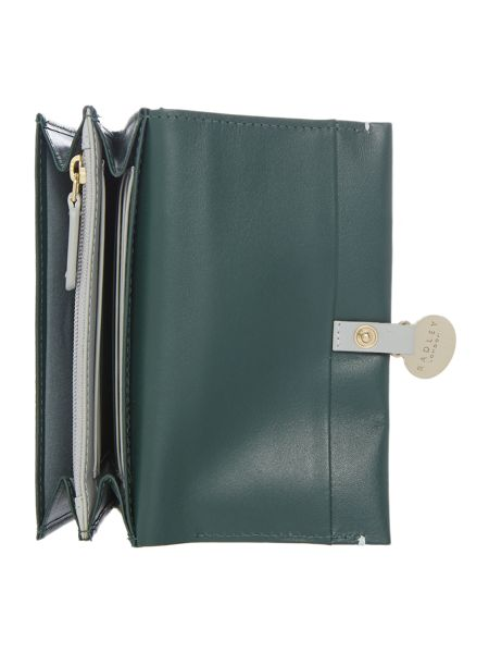Radley Exbury green medium flapover purse