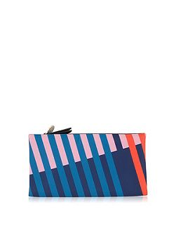 Triagonal navy large flapover purse