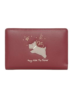 Away with the fairies red medium ziparound purse