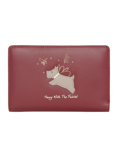 Radley Away with the fairies red medium ziparound purse