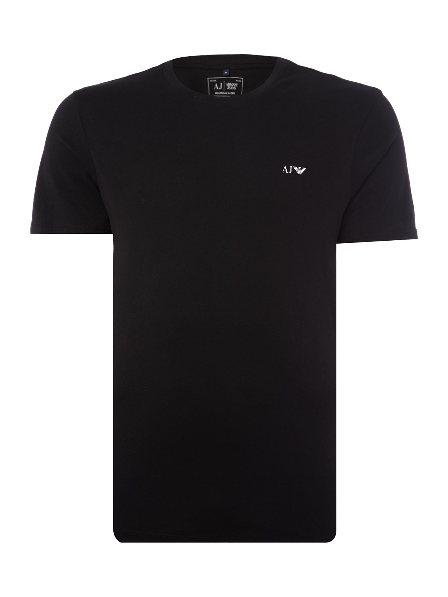 Men's Armani Jeans Regular fit crew neck t shirt 2 pack, Black