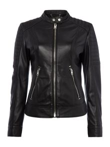 Diesel L-Nayt Leather Jacket