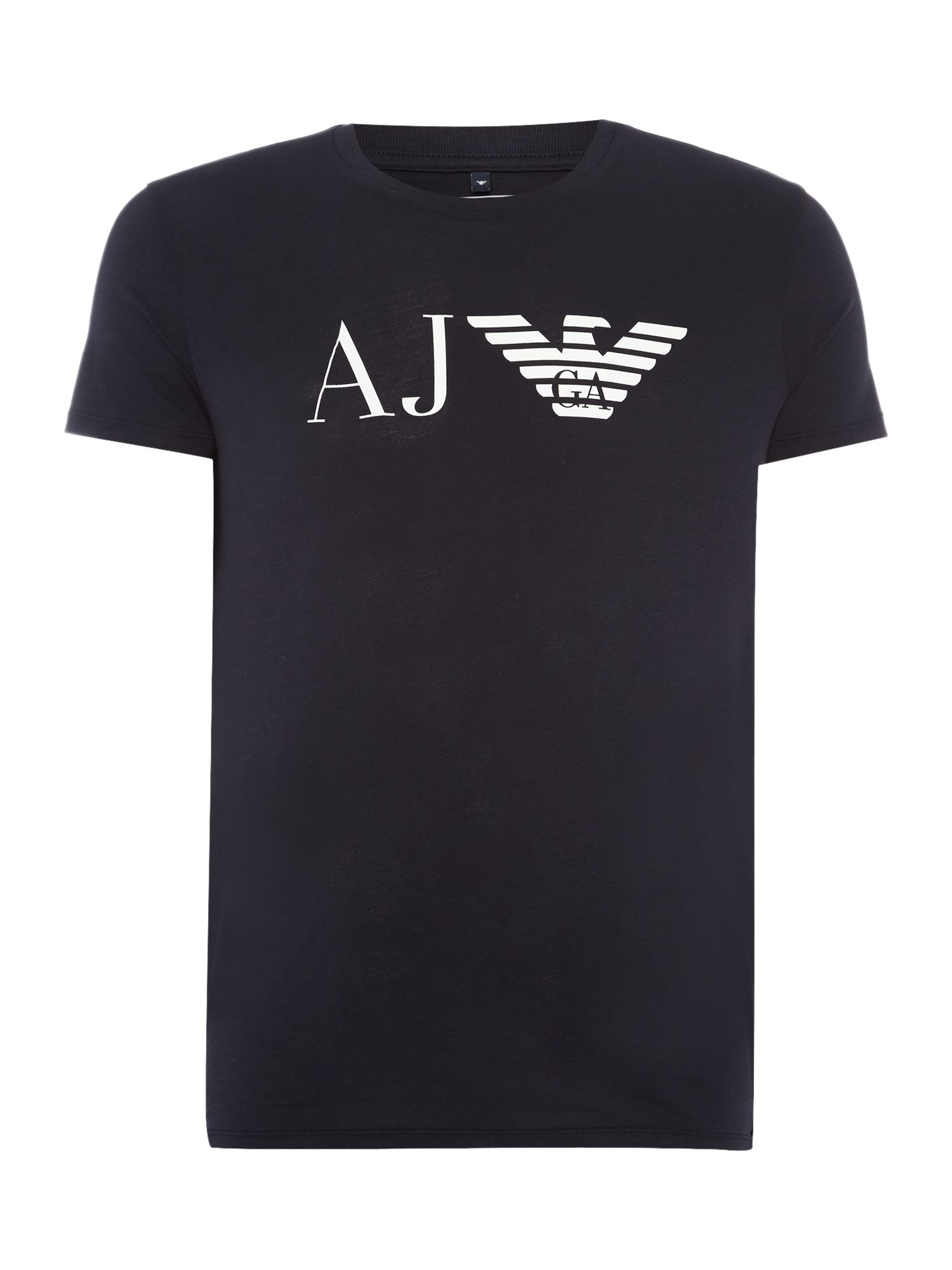 Men's Armani Jeans Regular fit AJ eagle logo printed t shirt, Blue