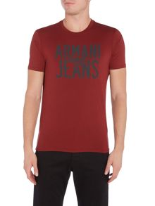 Armani Jeans Regular fit eagle logo printed t shirt