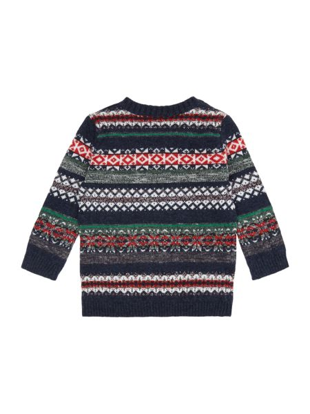 Benetton Boys Multi Colour Fairisle Crewneck