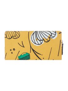 Radley Floristics yellow large flapover purse
