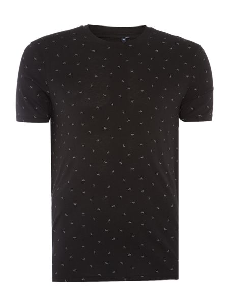 Armani Jeans Regular fit small scattered eagle logo t shirt