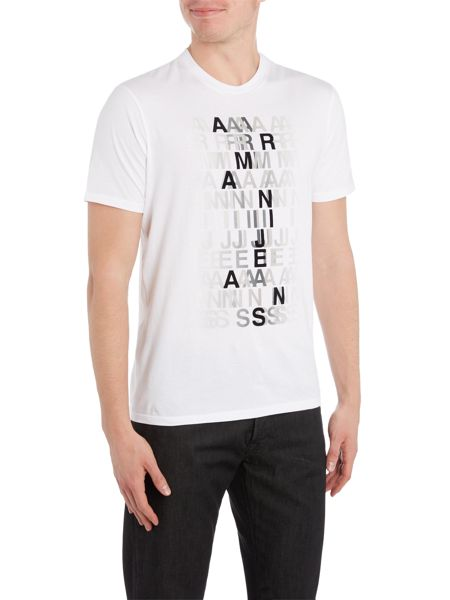 Armani Jeans Regular fit blurred letter printed t shirt