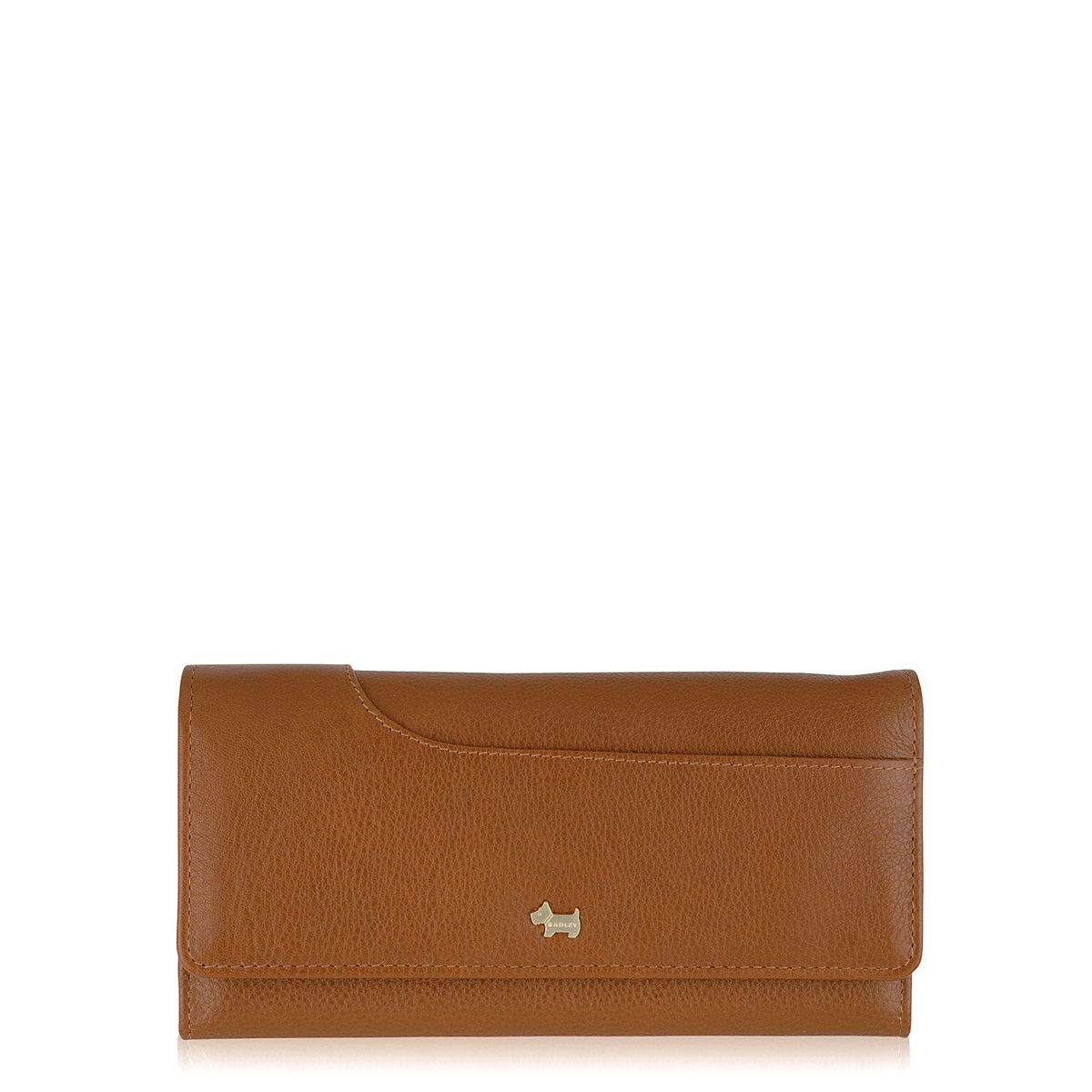 Radley Pocketbag tan large flapover purse Tan
