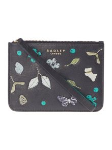 Radley Herbarium black medium pouch