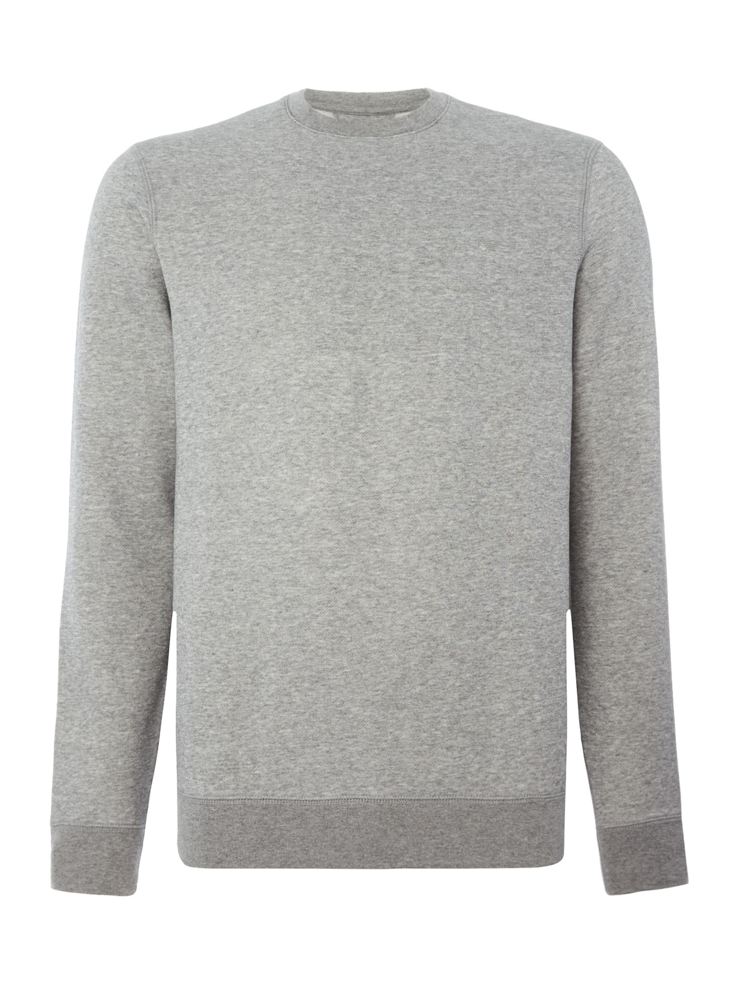 Men's Armani Jeans Crew neck small logo sweat top, Grey