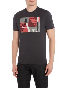 Armani Jeans Regular fit square logo printed t shirt