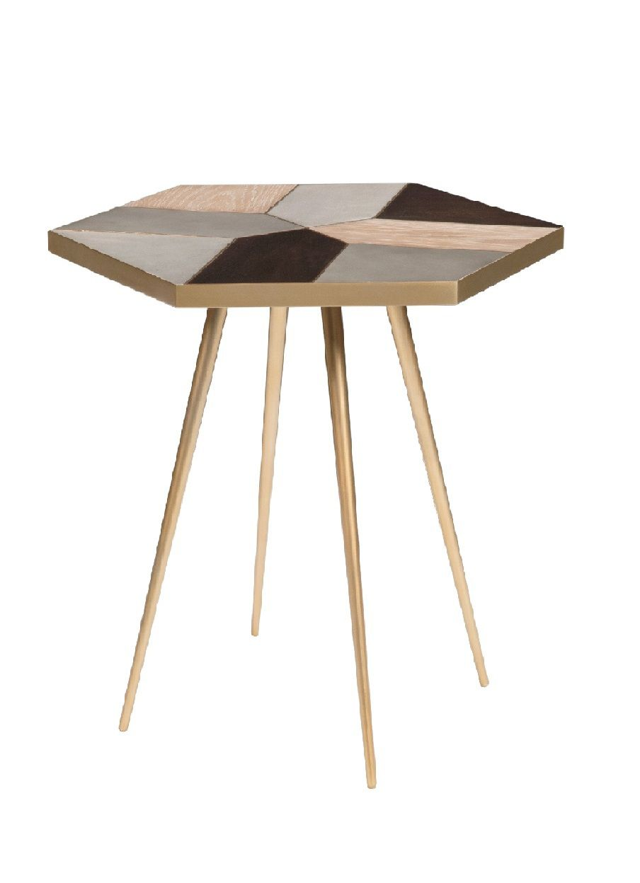 Living by Christiane Lemieux Living by Christiane Lemieux Modus mosaic side table, Natural