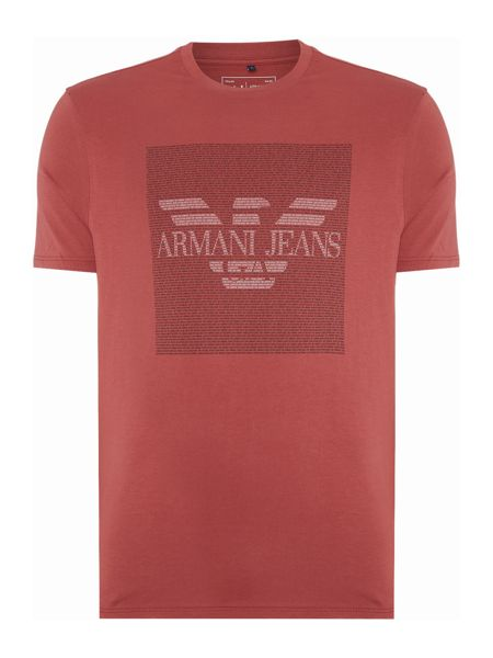 Armani Jeans Regular fit text block logo printed t shirt
