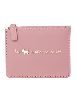 Excuses excuses pink small pouch