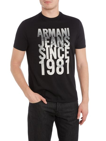 Armani Jeans Regular fit since 1981 printed t shirt
