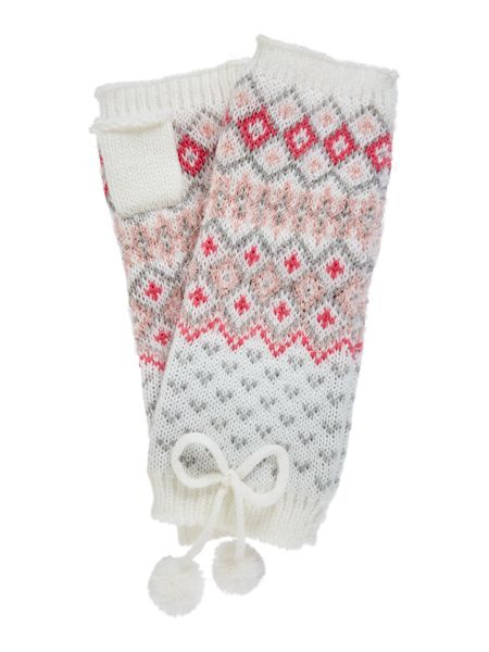 Therapy Eyelash Fairisle Handwarmer