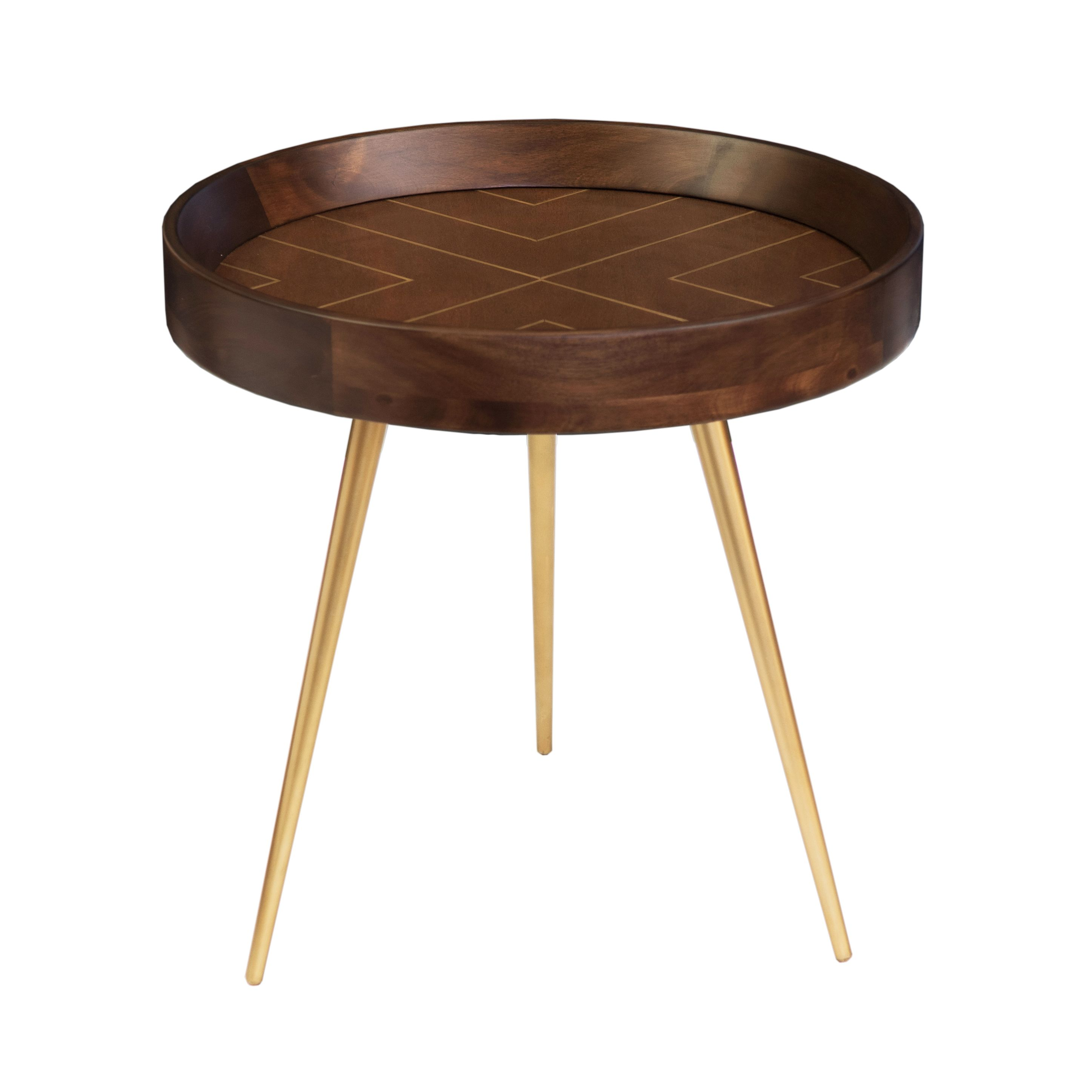 Living by Christiane Lemieux Living by Christiane Lemieux Melrose Side Table, Brown