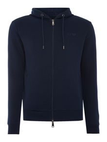 Armani Jeans Zip through logo hoody
