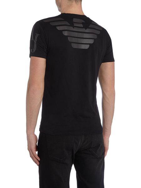Armani Jeans Regular fit eagle back printed t shirt