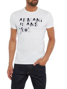 Armani Jeans Regular fit armani jeans 1981 printed t shirt