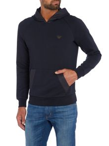 Armani Jeans Rubber detail hoodied sweat top