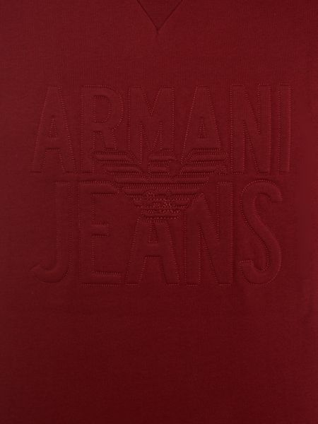 Armani Jeans Large embossed logo crew neck sweat jumper