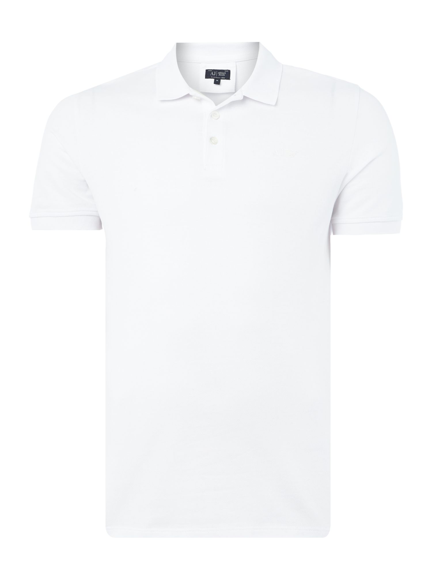 Men's Armani Jeans Regular fit short sleeve logo polo shirt, White