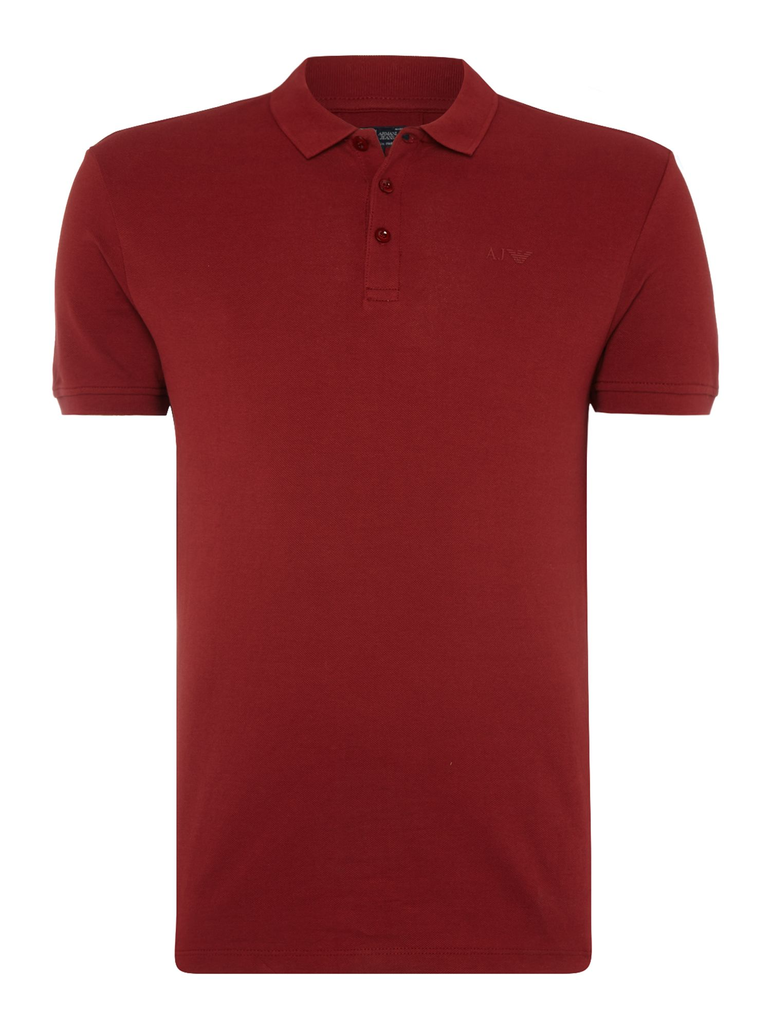 Men's Armani Jeans Regular fit short sleeve logo polo shirt, Red