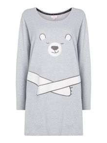 Therapy Bear Fleece Sleep Tee