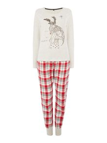 Therapy Rudolph Illustration PJ Set