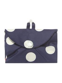 Radley Polka dog navy foldaway tote bag