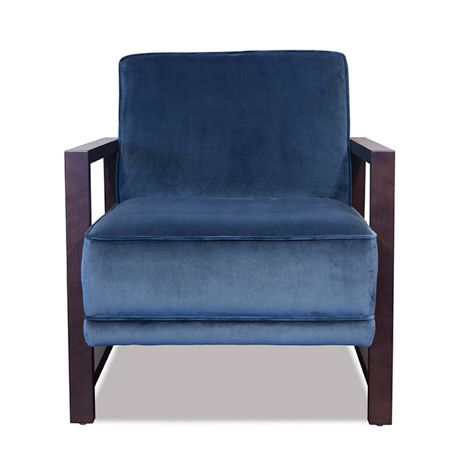 Living by Christiane Lemieux Stella Showwood Chair Aqua Velvet