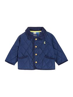 Baby Boys Quilted Contrast Logo Jacket