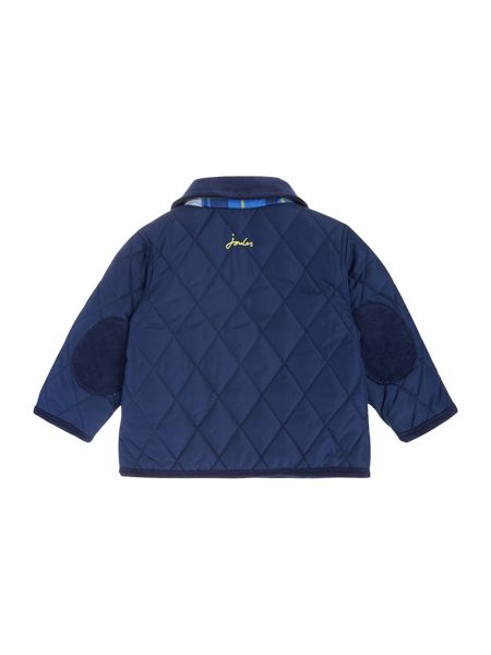 Joules Baby Boys Quilted Contrast Logo Jacket