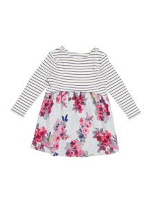 Joules Baby Girls Floral Stripe Dress