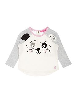 Baby Girls Dalmation Print T-shirt